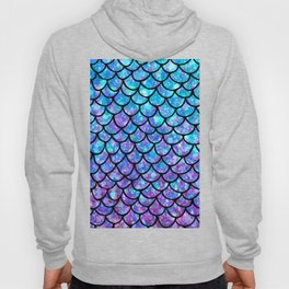 Purples & Blues Mermaid scales Hoody