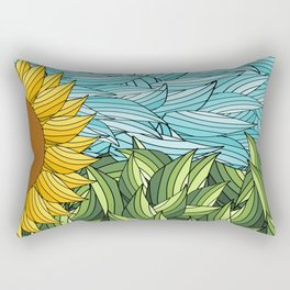 SUNNY DAY (abstract flowers) Rectangular Pillow