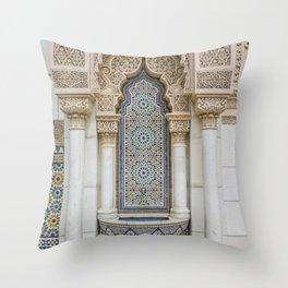 Moroccan Fountain Throw Pillow