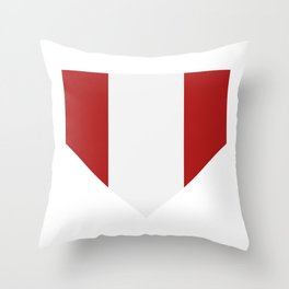flag of Peru Throw Pillow