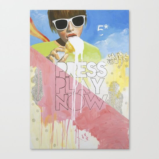 Press Play Now Canvas Print