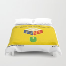 No215 My The Internship minimal movie poster Duvet Cover