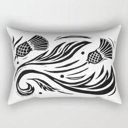 Thistle - Black and White Rectangular Pillow