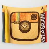 instagram Wall Tapestries featuring For Instagram Lovers ;) by Julia Kovtunyak