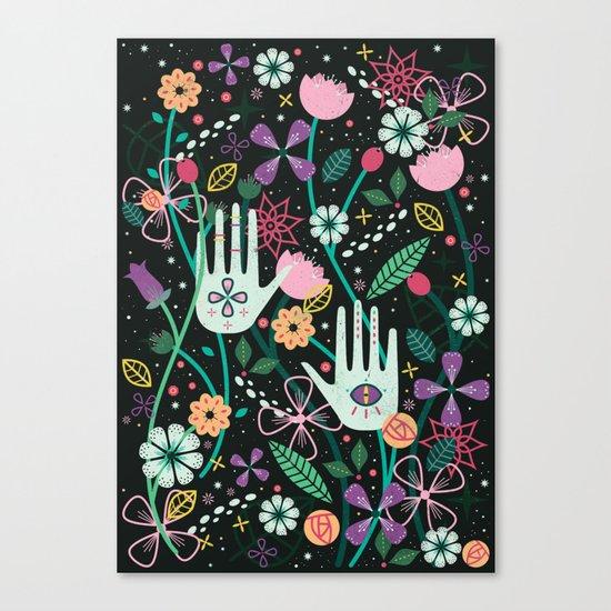 Botanical Hands Canvas Print