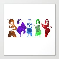 spice girls Canvas Prints featuring The Spice Girls by Greg21