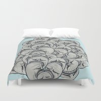 zombies Duvet Covers featuring Zombies problem by Irene Matarrodona