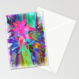 Exotic Pink, Abstract Flower, Floral Arrangement, Modern Art, Wall Art, Flowers Stationery Cards