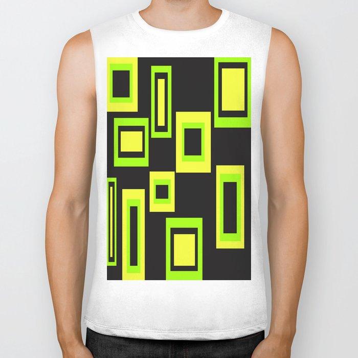 Abstract squares Biker Tank