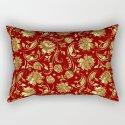 Dark Red & Gold Floral Damasks Pattern by artonwear