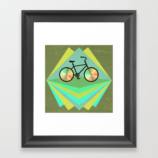 wanna ride my bicycle Framed Art Print