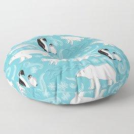 Artic Winter Wonderland Floor Pillow