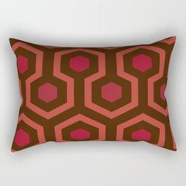Horror Movie Rug Pattern Rectangular Pillow