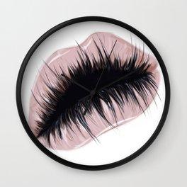 Lashious lips Wall Clock