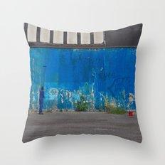Paint it blue Throw Pillow