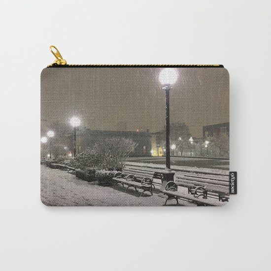 Romantic Seattle Snow At Night Carry-All Pouch