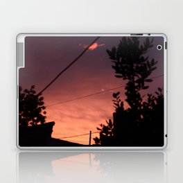 Spring sunset in the city Laptop & iPad Skin