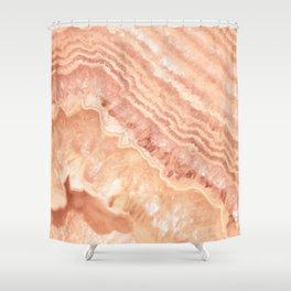 Champagne onyx marble Shower Curtain