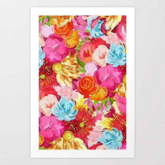 handpainted flower pattern Art Print