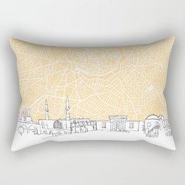 Nicosia Cyprus Skyline Map Rectangular Pillow