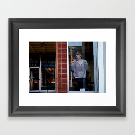 Search Framed Art Print