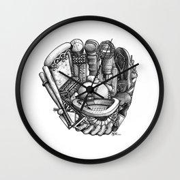 Baseball Glove Wall Clock