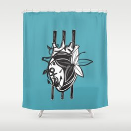 3 of Wands Tarot Card Shower Curtain