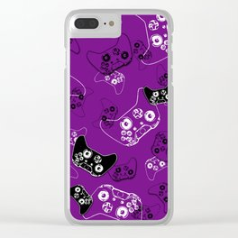 Video Game Purple Clear iPhone Case
