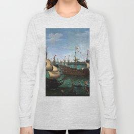 "Hendrik Cornelisz Vroom ""The Arrival of Elector Frederick V of the Palatinate and Elizabeth"" Long Sleeve T-shirt"