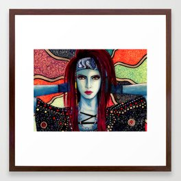 Slightly Psychedelia Framed Art Print
