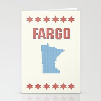 fargo Stationery Cards featuring Fargo Cross Stitch by Cameron Chapman