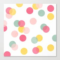 confetti Canvas Prints featuring confetti by her art