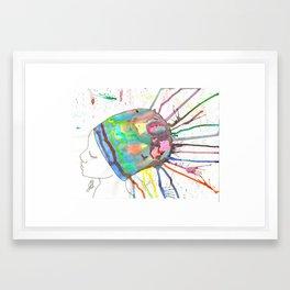 Head covered girl Framed Art Print