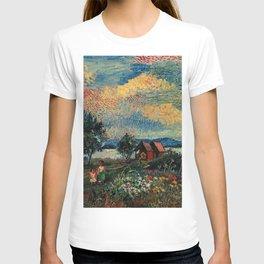 Autumn In Hampton Bays, South Hampton by David Davidovich Burliuk T-shirt
