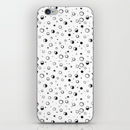 Pattern design with moons and craters iPhone Skin