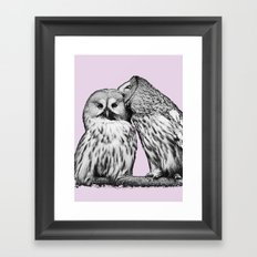 Love#Owls Framed Art Print