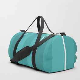 Turquoise Panels Duffle Bag
