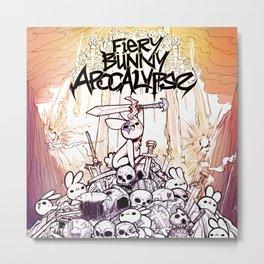 Fiery Bunny Apocalypse Metal Print