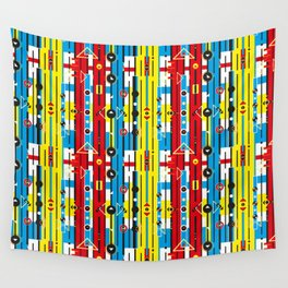 Graphic retro weave Wall Tapestry