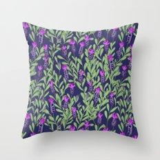 April blooms(Lavender_blue) Throw Pillow