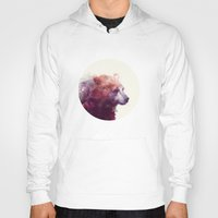 justin timberlake Hoodies featuring Bear // Calm by Amy Hamilton