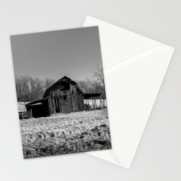 Days Gone By - Old Arkansas Barn in Black and White Stationery Cards