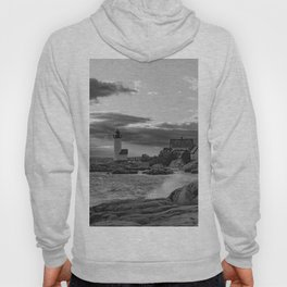 Annisquam Lighthouse Black and white Hoody