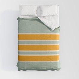 70s Style Mint Orange White Retro Stripes Pomona Comforters