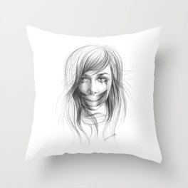 Keep smiling for me Throw Pillow