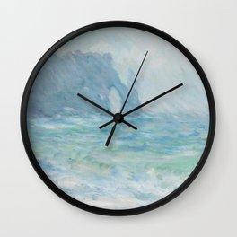 Monet Regnvær, Etretat, 1886 Wall Clock