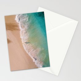 Into the ocean - Aerial Beach Stationery Cards