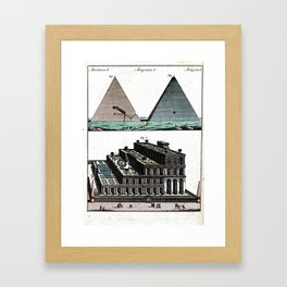 Pyramids and Floating (Suspended) Gardens of Babylon Framed Art Print