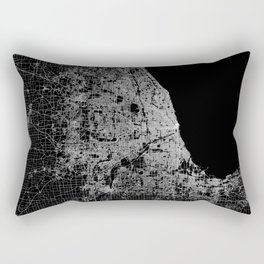 Chicago map Rectangular Pillow
