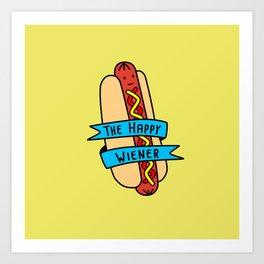 The Happy Wiener Art Print